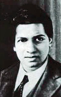 Portrait of Srinivasa Ramanujan